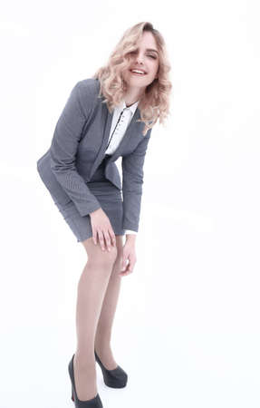 young business woman posing in front of the camera 写真素材