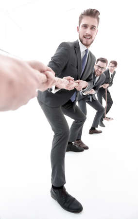 tug of war between business partners