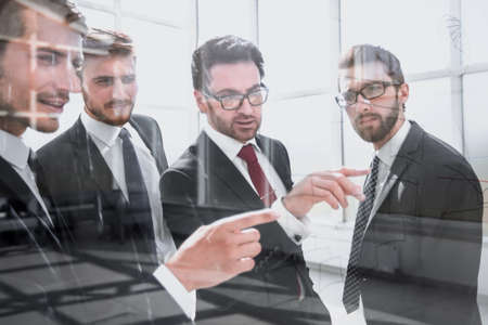 business team discussing new business plan