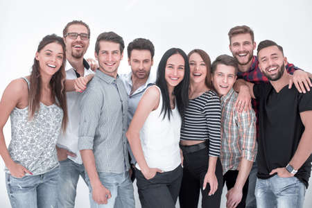 close up.group of creative employees