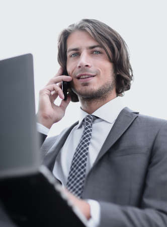 closeup.successful businessman talking on the phone Stock Photo