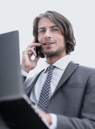 closeup.successful businessman talking on the phone Stock Photo