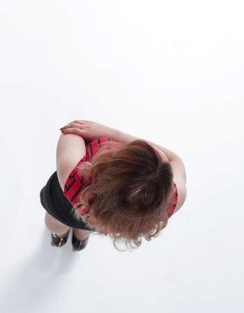 slender women studio shot, isolated on white background
