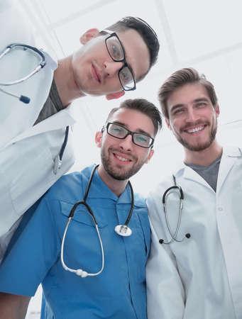 bottom view.a professional group of doctors Reklamní fotografie
