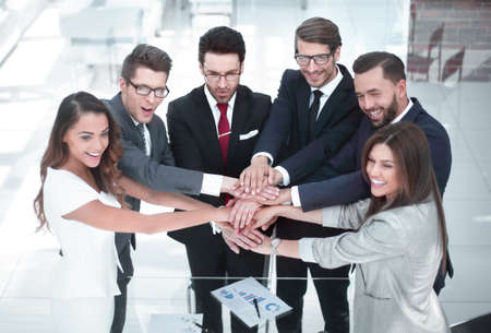 group of business people starting a new commercial project Stock Photo