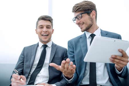 men talking in the office during a break Stock Photo