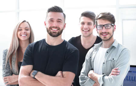 successful entrepreneurs stand together Stock Photo