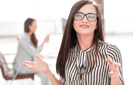 Executive business women in the blurred background