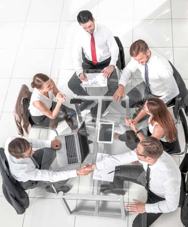 Group of Business People in a Meeting Banco de Imagens