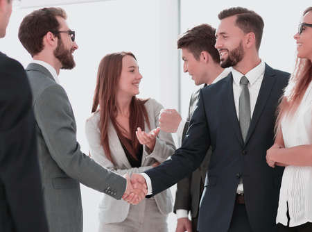 business meeting business partner in ufficio