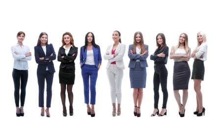 Panoramafoto eines großen Business-Teams, das zusammensteht Standard-Bild