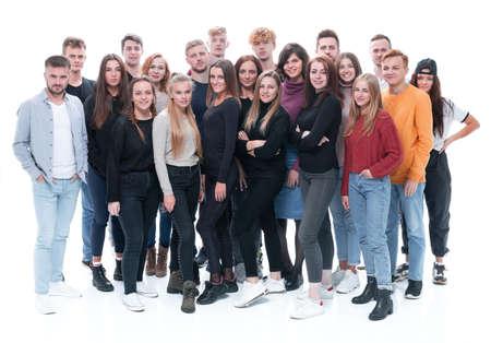 Team von glücklichen jungen Leuten .Erfolgskonzept Standard-Bild