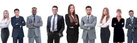 in vollem Wachstum. professionelles Business-Team isoliert auf weißem Hintergrund.