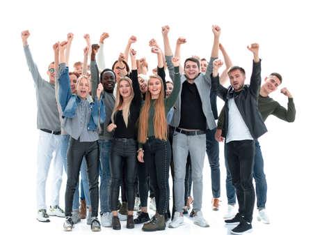 en pleine croissance. un groupe de jeunes heureux