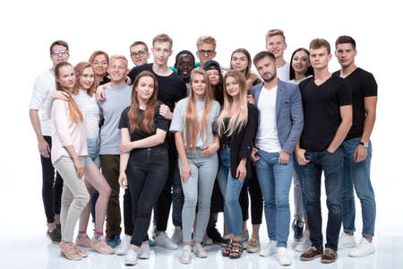 diverse multinational group of young business people