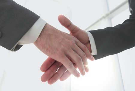 Effektive Verhandlungen mit dem Kunden. Geschäftskonzept Foto.