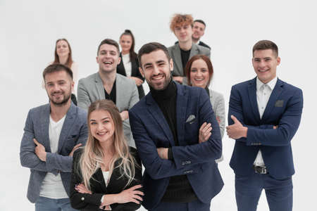 close up. a group of diverse young business people . Stock Photo