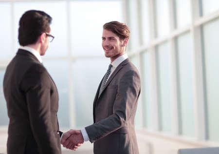 friendly handshake of business partners