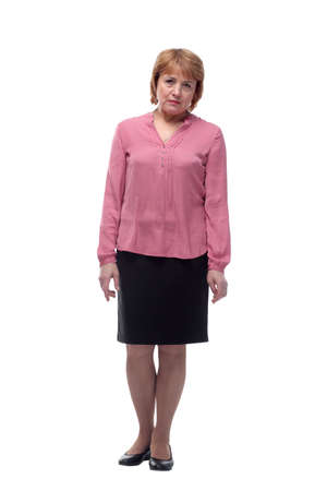 Portrait of sad and depressed looking mature woman in pink blouse