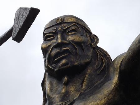 Monument of General Rumi? ? ahui in P???llaro Stock Photo
