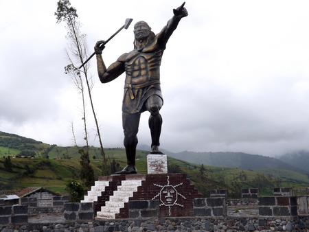Monument of General Rumi? ? ahui in P?llaro Tungurahua