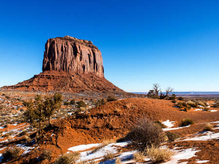 Monument Valley on the border between Arizona and Utah in United States