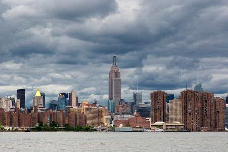 Cloudy day of Manhattan Midtown Skyline, New York United States
