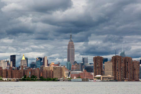 Cloudy day of Manhattan Midtown Skyline, New York United States
