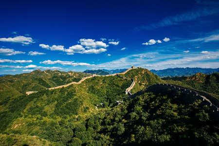 Sunset at Jinshanling Great Wall of China, Jinshanling Beijing, China