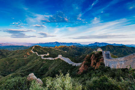 Sunrise at Jinshanling Great Wall of China, Jinshanling, Beijing, China