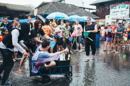 People and Tourists Join Songkran Water Festival In the middle of Chiang Mai | APR 13, 2013 | EDI CHEN Editorial