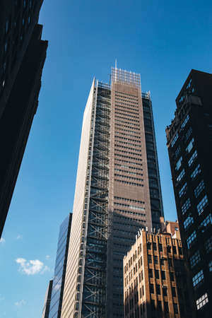 New York City / USA - JUL 13 2018: New York Times Building view from street in midtown Manhattan