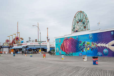 Brooklyn, NY  USA - JUN 01 2018: Famous restaurant on broadwalk in Coney Island
