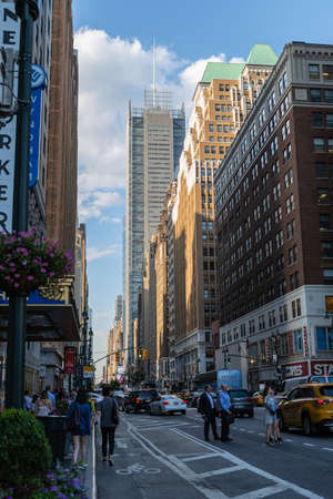 New York City  USA - JUL 13 2018: New York Times Building view from street in midtown Manhattan