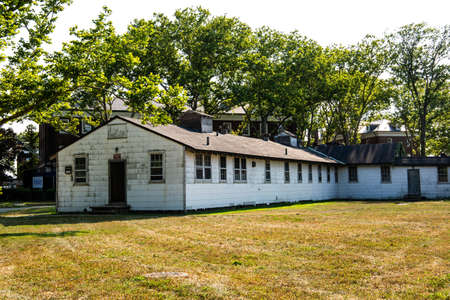 New York City  USA - JUL 14 2018: Landscape environment of Governors Island Editorial