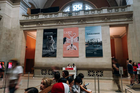 New York NY - USA - Jul 30 2019: Entance of Metropolitan Museum of Art in New York City is a NYC landmark which and is the largest art museum in the United States. Editorial