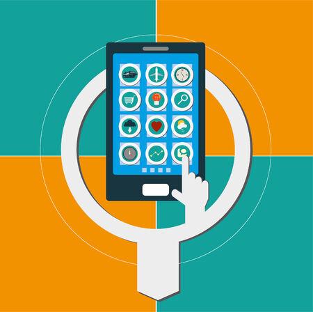 mobile apps: mobile apps Illustration