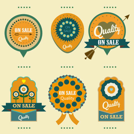 labels on sale quality vector set Vector