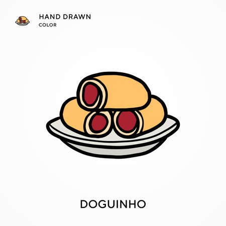 Doguinho Hand drawn color icon. Modern vector illustration concepts. Easy to edit and customize Stock Illustratie