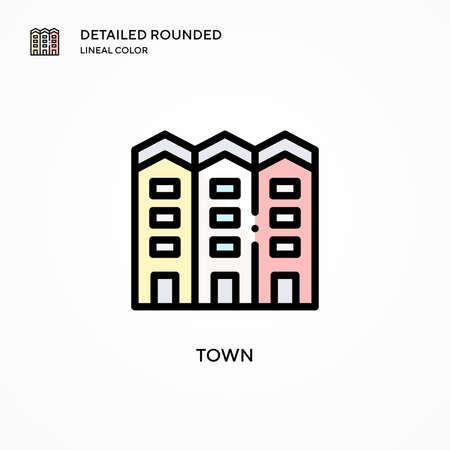 Town vector icon. Modern vector illustration concepts. Easy to edit and customize. Иллюстрация
