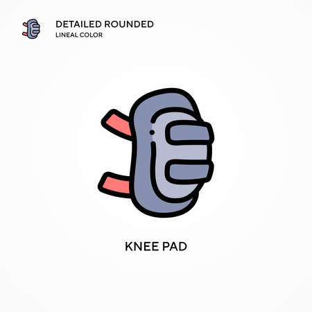 Knee pad vector icon. Modern vector illustration concepts. Easy to edit and customize.