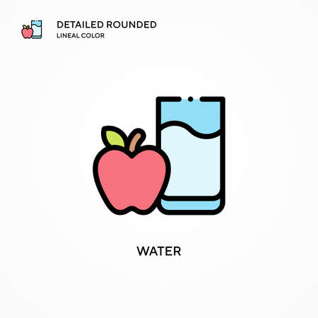 Water vector icon. Modern vector illustration concepts. Easy to edit and customize.