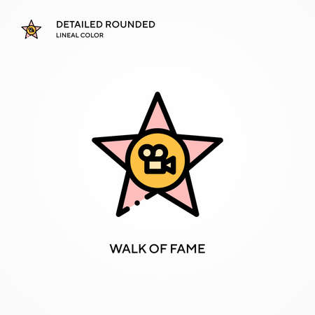Walk of fame vector icon. Modern vector illustration concepts. Easy to edit and customize.