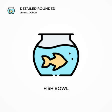 Fish bowl vector icon. Modern vector illustration concepts. Easy to edit and customize. Illustration
