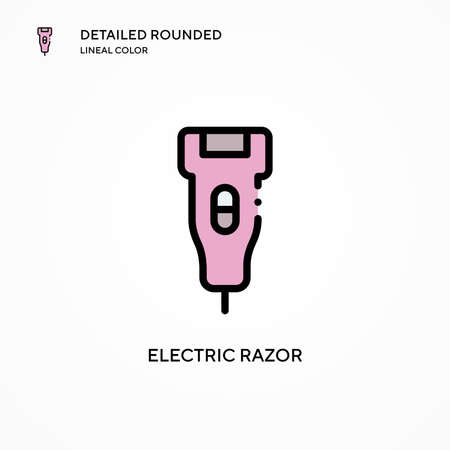 Electric razor vector icon. Modern vector illustration concepts. Easy to edit and customize.  イラスト・ベクター素材