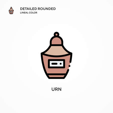 Urn vector icon. Modern vector illustration concepts. Easy to edit and customize.