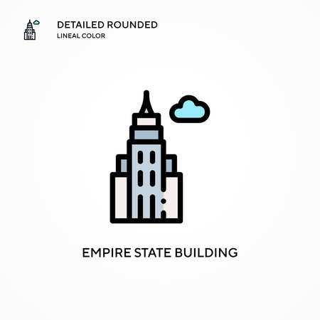 Empire state building vector icon. Modern vector illustration concepts. Easy to edit and customize.