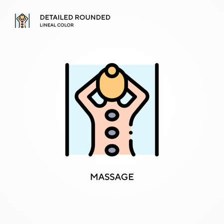 Massage vector icon. Modern vector illustration concepts. Easy to edit and customize.