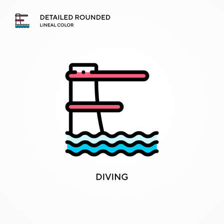 Diving vector icon. Modern vector illustration concepts. Easy to edit and customize.