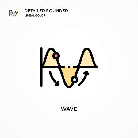 Wave vector icon. Modern vector illustration concepts. Easy to edit and customize. Illusztráció